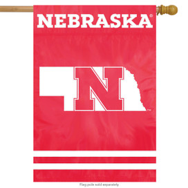 University of Nebraska Cornhuskers Applique House Flag