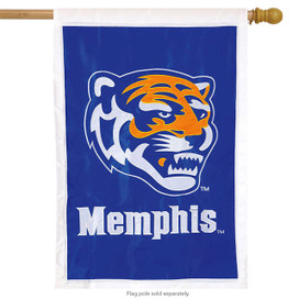 Memphis Tigers Applique NCAA Licensed House Flag