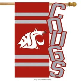 Washington State Cougars Licensed NCAA House Flag