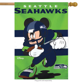 Seattle Seahawks NFL Mickey Mouse Football House Flag