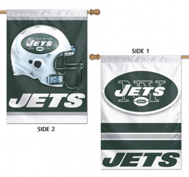 New York Jets 2 Sided NFL Vertical House Flag