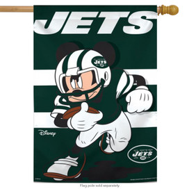 New York Jets Mickey Mouse Vertical Flag