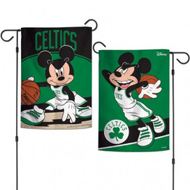 Boston Celtics Mickey Mouse Garden Flag