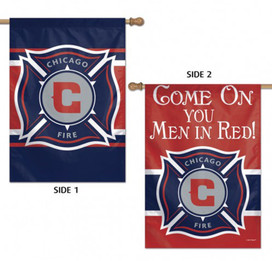 Chicago Fire Double Sided MLS House Flag