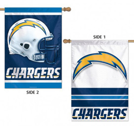 Los Angeles Chargers 2 Sided NFL Vertical House Flag
