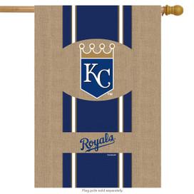 Kansas City Royals Burlaps MLB Licensed House Flag