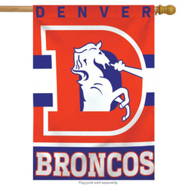Denver Broncos Vertical NFL House Flag