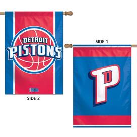 Detroit Pistons 2 Sided NBA Vertical House Flag