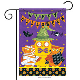 Happy Halloween Owl Garden Flag