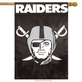 Oakland Raiders Applique Embroidered Banner Flag NFL