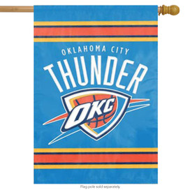 Oklahoma City Thunder Applique House Flag