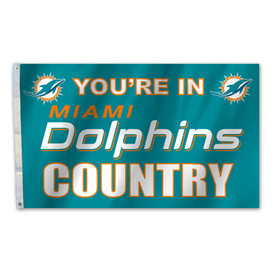 Miami Dolphins Country Grommet Flag