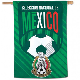 Mexican National Soccer Vertical Flag