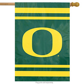 University of Oregon Applique & Embroidered Banner Flag NCAA