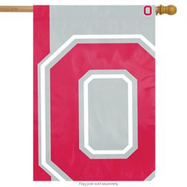 Ohio State Buckeyes Bold Logo House Flag