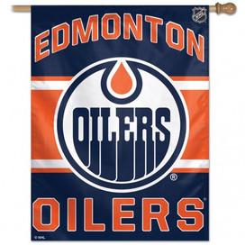 Edmonton Oilers NHL Vertical Flag