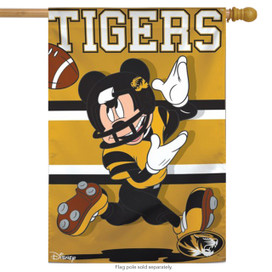 University of Missouri Tigers NCAA Mickey Mouse House Flag