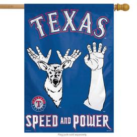 Texas Rangers Vertical Flag MLB