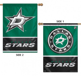 Dallas Stars Vertical 2 Sided House Flag