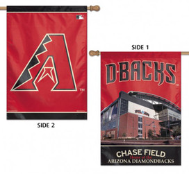 Arizona Diamondbacks 2 Sided MLB Vertical House Flag
