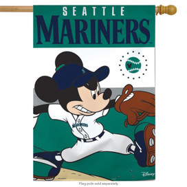 Seattle Mariners MLB Mickey Mouse Baseball House Flag
