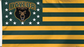 Baylor University Bears Stars & Stripes Deluxe Grommet Flag