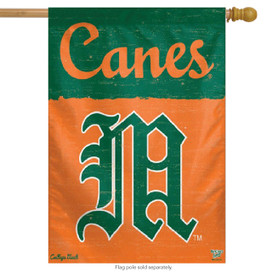 University of Miami Hurricanes NCAA Vertical Flag