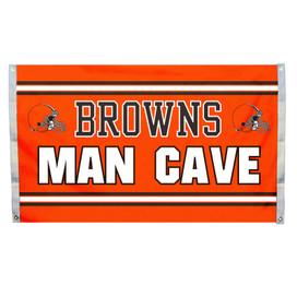 Cleveland Browns Man Cave Grommet Flag
