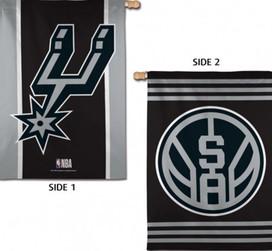 San Antonio Spurs 2 Sided NBA Vertical House Flag