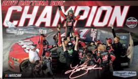 Daytona 500 Champion NASCAR Deluxe Grommet Flag