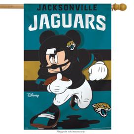 Jacksonville Jaguars NFL Mickey Mouse Football House Flag