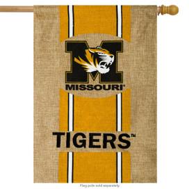 Missouri Tigers Licensed NCAA Burlap House Flag