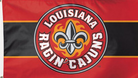 Louisiana NCAA Ragin Cajuns Deluxe Grommet Flag
