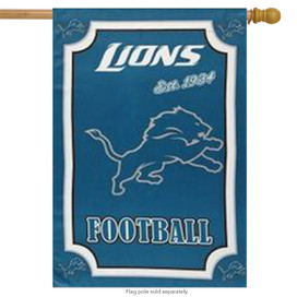 Detroit Lions NFL House Flag