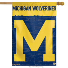 University of Michigan Vertical Flag