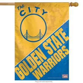 Golden State Warriors NBA Vertical House Flag