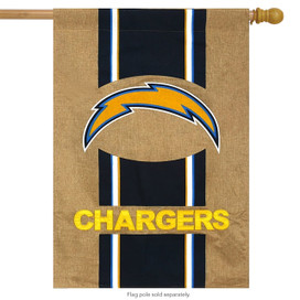Los Angeles Chargers NFL Licensed Burlap House Flag
