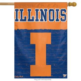 University of Illinois Vertical House Flag NCAA
