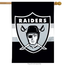 Oakland Raiders Vertical NFL House Flag