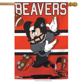 Oregon State University Beavers NCAA Mickey Mouse House Flag