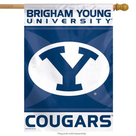 Brigham Young Cougars Vertical House Flag