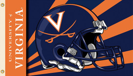 University of Virginia Helmet Grommet Flag NCAA 3' x 5'