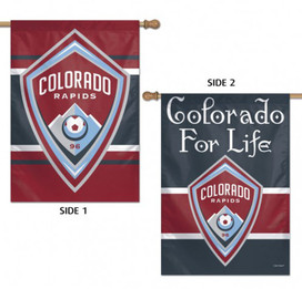 Colorado Rapids Double Sided MLS House Flag