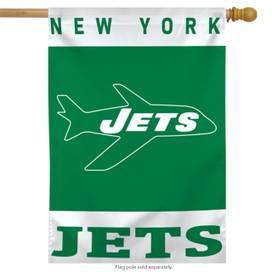 Retro New York Jets Packers Vertical NFL House Flag