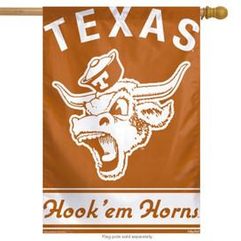 Texas Hook'em Horns NCAA Vertical House Flag