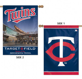 Minnesota Twins MLB 2 Sided Vertical House Flag