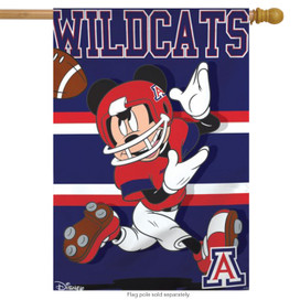 University of Arizona Wildcats NCAA Mickey Mouse House Flag