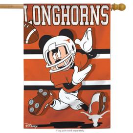 Texas Longhorns NCAA Mickey Mouse House Flag