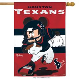 Houston Texans NFL Mickey Mouse Football House Flag