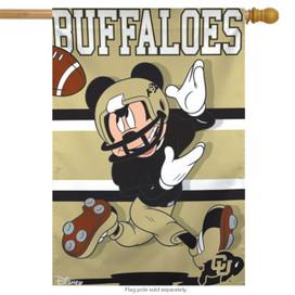 University of Colorado Buffaloes NCAA Mickey Mouse House Flag